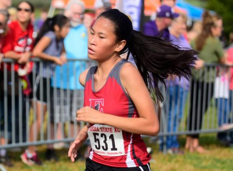 Nashville East's Sadie Frogge medaled  in the 2017 TSSAA Cross Country Championship