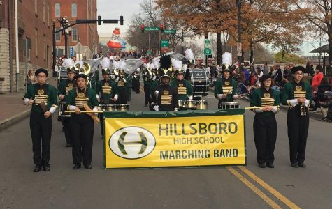 Hillsboro Marching Band joins nationally known performers at Nashville Christmas Parade on live Television.