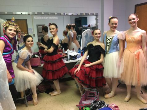 Ballet dancers ready themselves back stage in at the 36th annual Mini-Nutcracker performed by the Centennial Youth Ballet which is an extension of Metro Parks and Recreation.