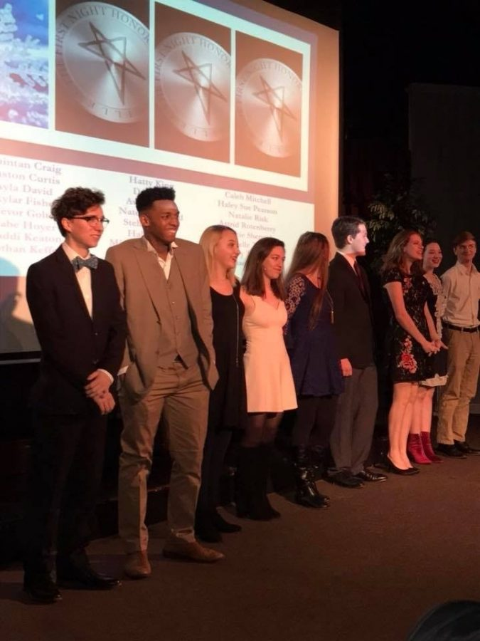 First Night's Class of 2018 Most Promising Actors   includes (from left to right): Nathan Keffer, Caleb Mitchell, Lucy Turner, Maddi Keaton, Danielle Threet, Trevor Golter,  Michaela Ziparo, Ayla David and Nate Lockwood