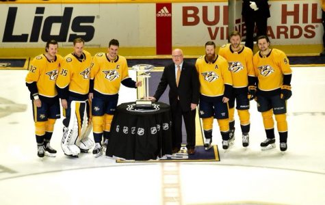 "The Nashville Predators accept President's Trophy – ""Wrap it up, we'll take it"""