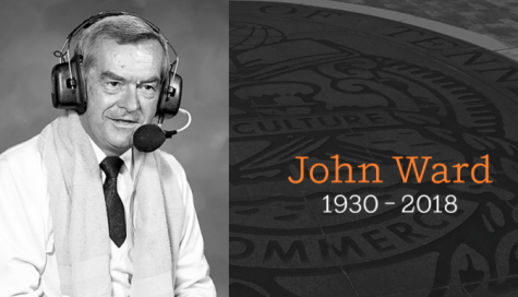 Longtime Vols broadcaster Ward honored at tribute ceremony