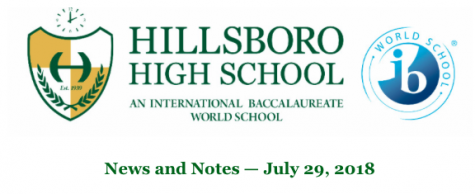 News From Hillsboro High School PTSO: 7/29/18