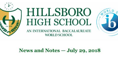 News From Hillsboro High School PTSO: 7/29/18