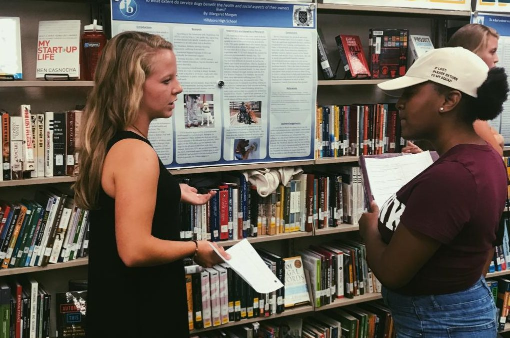 Student work showcased in Extended Essay and Reflective Projects Symposium