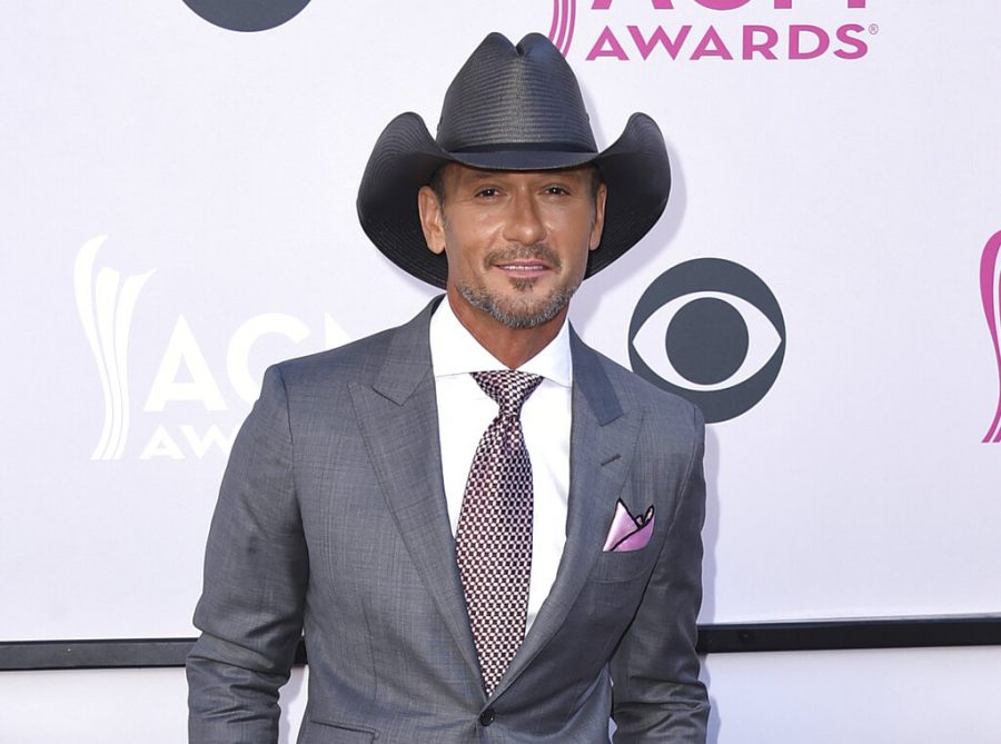 FILE - This April 2, 2017 file photo shows Tim McGraw at the 52nd annual Academy of Country Music Awards in Las Vegas. The NFL announced Monday that Grammy-winning country star Tim McGraw will perform a free outdoor concert on April 26, 2019, and Grammy-winning gospel singer CeCe Winans will sing the National Anthem on April 25 to open the three days of draft events. (Photo by Jordan Strauss/Invision/AP, File)