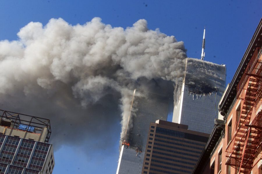 FILE+-+In+this+Sept.+11%2C+2001%2C+file+photo%2C+smoke+rises+from+the+burning+twin+towers+of+the+World+Trade+Center+after+hijacked+planes+crashed+into+the+towers+in+New+York+City.+Sept.+11+victims%E2%80%99+relatives+are+greeting+the+news+of+President+Donald+Trump%E2%80%99s+now-canceled+plan+for+secret+talks+with+Afghanistan%E2%80%99s+Taliban+insurgents+with+mixed+feelings.+%28AP+Photo%2FRichard+Drew%2C+File%29