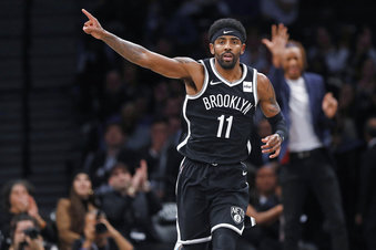 Brooklyn+Nets+guard+Kyrie+Irving+%2811%29+celebrates+after+scoring+during+the+first+half+of+the+team%27s+NBA+basketball+game+against+the+Minnesota+Timberwolves%2C+Wednesday%2C+Oct.+23%2C+2019%2C+in+New+York.+Irving+had+50+points+but+the+Nets+fell+to+the+Timberwolves+in+overtime%2C+127-126.+%28AP+Photo%2FKathy+Willens%29