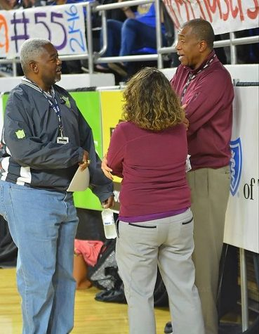 Maurice Patton, Bernard Childress, Executive Director for TSSAA and Courtney  Brunetz, Marketing Director