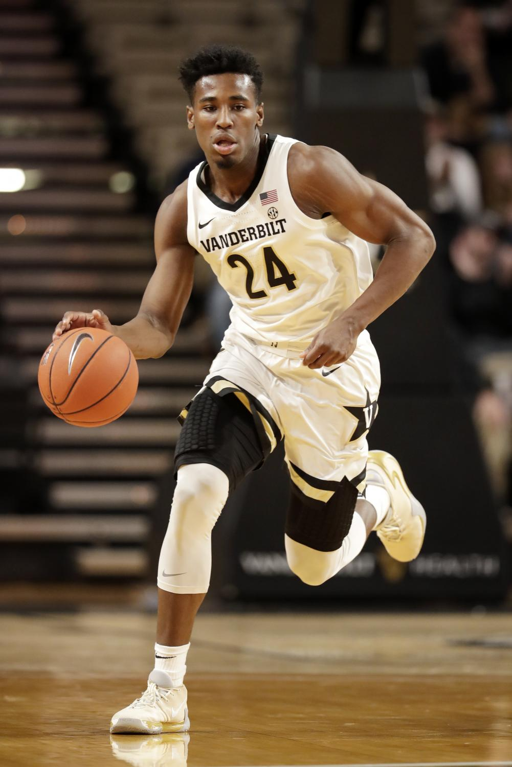 Vanderbilt+forward+Aaron+Nesmith+plays+against+Southeast+Missouri+State+in+the+first+half+of+an+NCAA+college+basketball+game+Wednesday%2C+Nov.+6%2C+2019%2C+in+Nashville%2C+Tenn.+Nesmith+led+Vanderbilt+with+25+points+as+Vanderbilt+won+83-65.+%28AP+Photo%2FMark+Humphrey%29