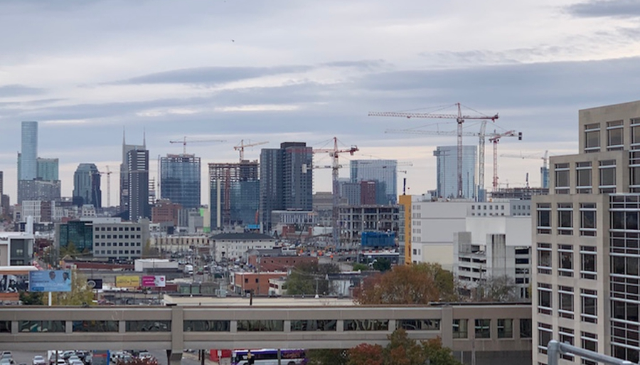 Crane craze – Nashville reaches the legal limit of cranes