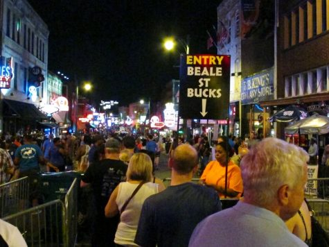 FILE - In this June 11, 2016, file photo, visitors stand in line to pay to enter Beale Street on Beale Street in Memphis, Tenn. Two sites in Kentucky and two in Tennessee have been added to the U.S. Civil Rights Trail, including the Beale Street Historic District, officials said Thursday, Feb. 13, 2020. (AP Photo/Adrian Sainz, File)
