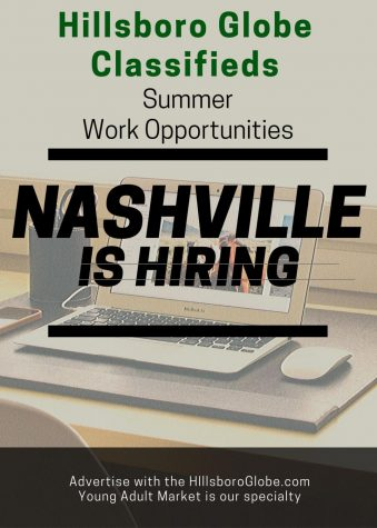 Advertise your job opportunity with the Hillsboro Globe and hire the best young adults in Nashville