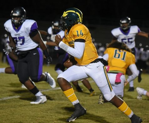 Jalen Macon, QB, rushed for 65 yards, passed for 87 and scored 2 touchdowns for HIllsboro Burros in a defeat over Cane Ridge, 35-31.